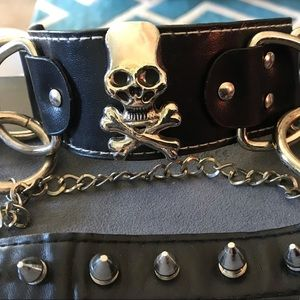 Jewelry - Ladies Skull And Spike Bracelets (2 Total)